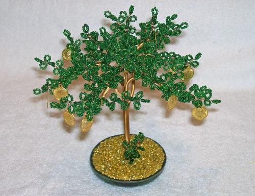 денежное дерево из бисера - Лучшие схемы и описания для всех.
